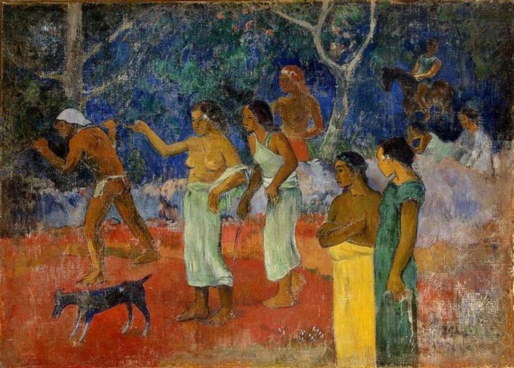 Scene from Tahitian Life, 1896 - Paul Gauguin
