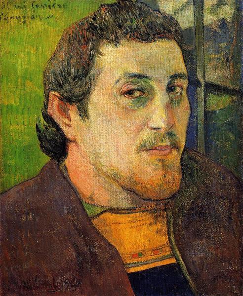 Автопортрет в Лезавенне, 1888 - Поль Гоген