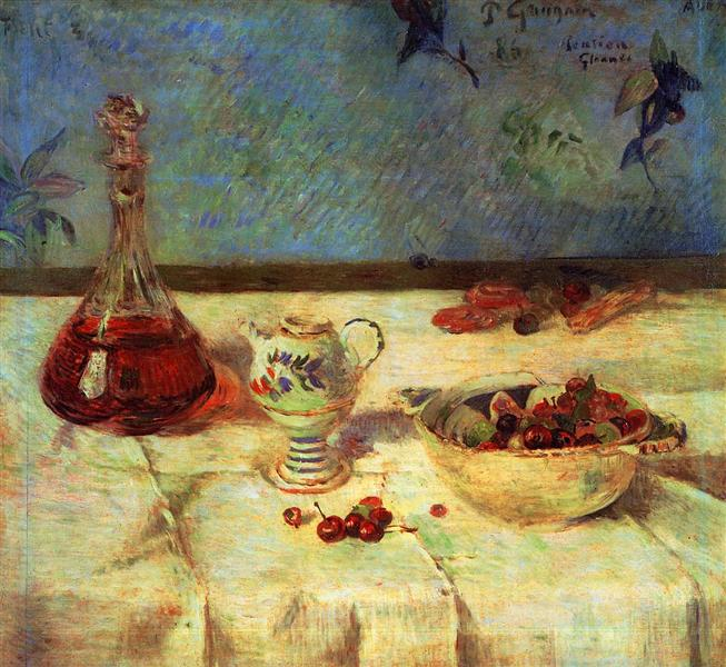 Still Life with Cherries, 1886 - Paul Gauguin