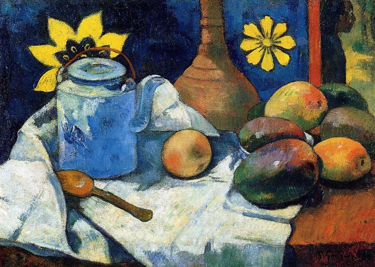 Still life with teapot and fruits, 1896 - Paul Gauguin