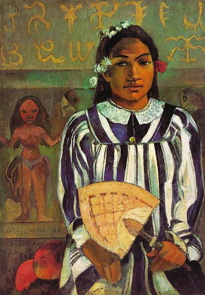 Tehamana has many parents (The Ancestors of Tehamana), 1893 - Paul Gauguin