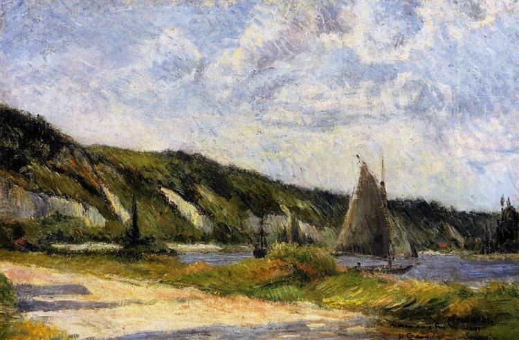 The cliffs of Le-Bouille, 1884 - Paul Gauguin