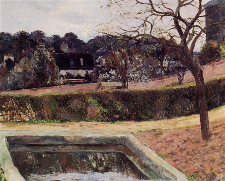 The square pond, 1884 - Paul Gauguin