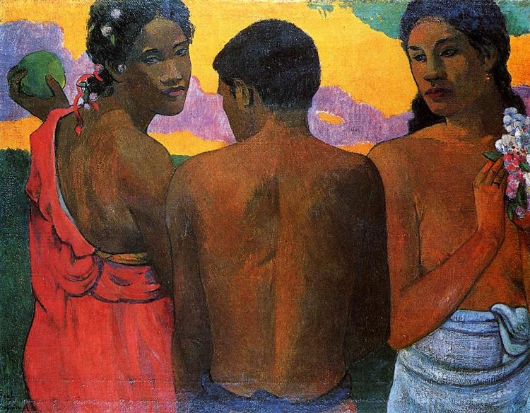 Three Tahitians - Gauguin Paul