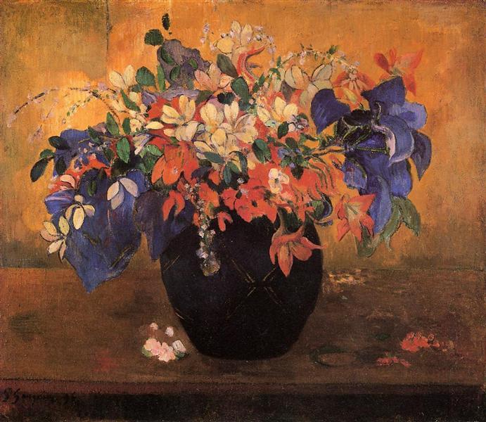 Vase of flowers, 1896 - Paul Gauguin