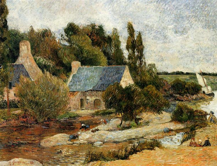 Washerwomen at Pont-Aven, 1886 - Paul Gauguin