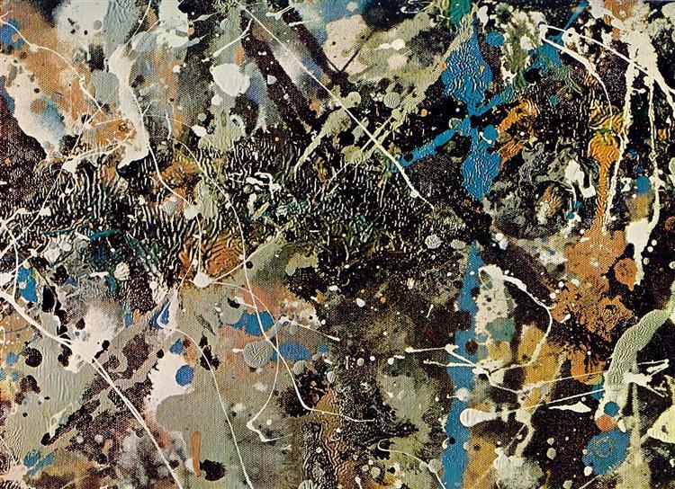 Number 1 (Lavender Mist) (detail), 1950 - Jackson Pollock