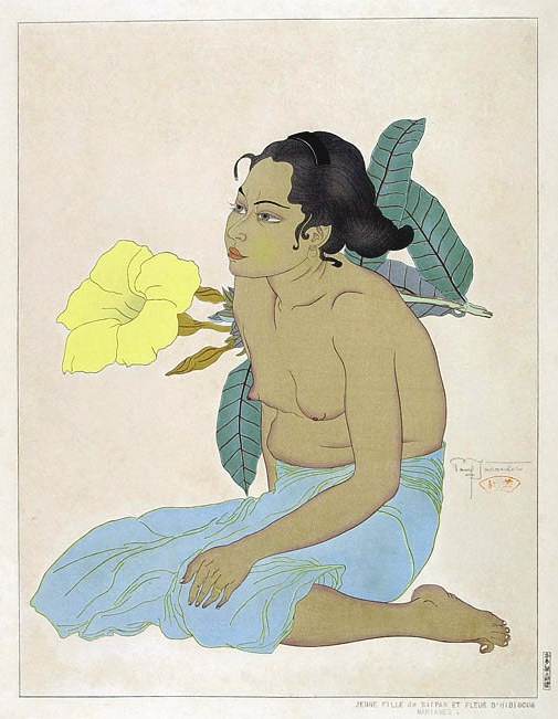 Jeune Fille De Saipan Et Fleurs D'Hibiscus. Marianes, 1934