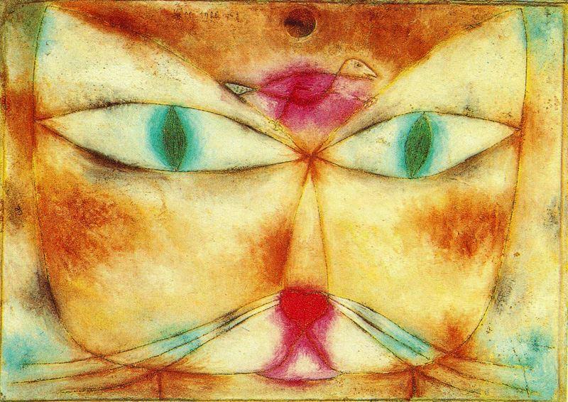 Znalezione obrazy dla zapytania cat and bird klee