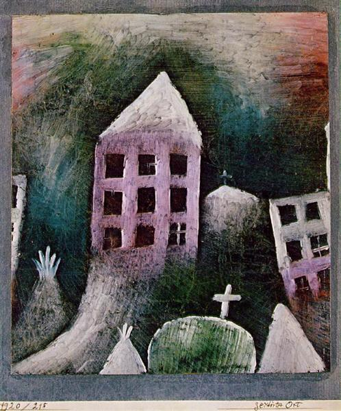 Destroyed place, 1920 - Paul Klee