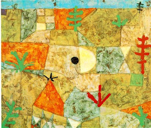 'Southern Gardens' by Paul Klee, 1921 (via WikiPaintings)