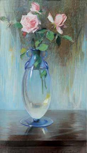 Vase with roses - Paul Mathiopoulos