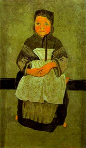 Little Breton Girl Seated (Portrait of Marie Francisaille), c.1895 - Paul Serusier