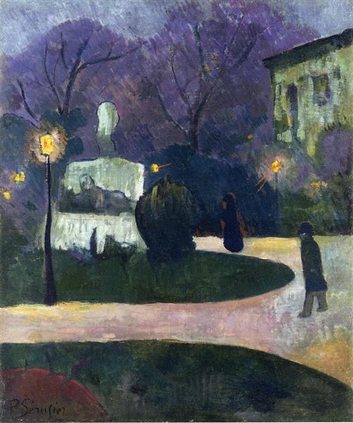 Square with Street Lamp, 1891 - Paul Sérusier