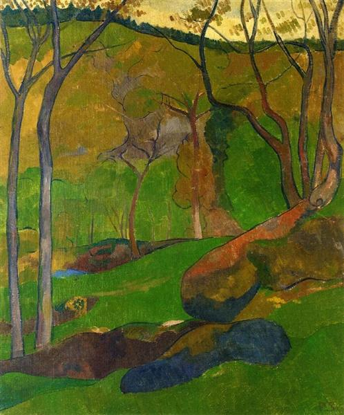Undergrowth at Huelgoat, 1905 - Paul Serusier