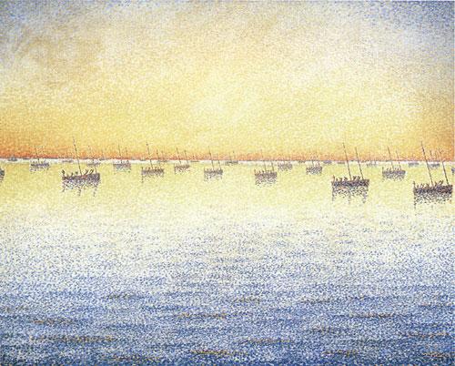 Setting Sun. Sardine Fishing. Adagio, 1891 - Paul Signac