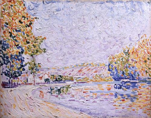 Samois, Study Nr. 8, 1899 - Paul Signac