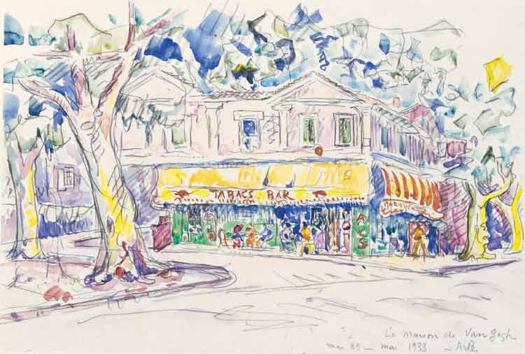 The House of Van Gogh (Arles, place Lamartine), 1933 - Paul Signac