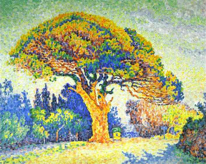 The Pine Tree at St. Tropez - Paul Signac
