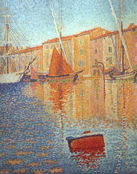 The Red Buoy, Saint Tropez, 1895 - Paul Signac