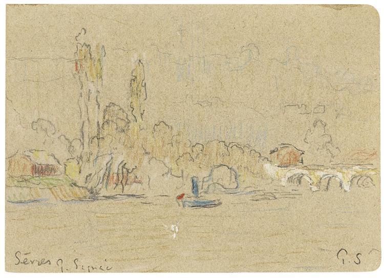 The Seine near Sevres - Paul Signac