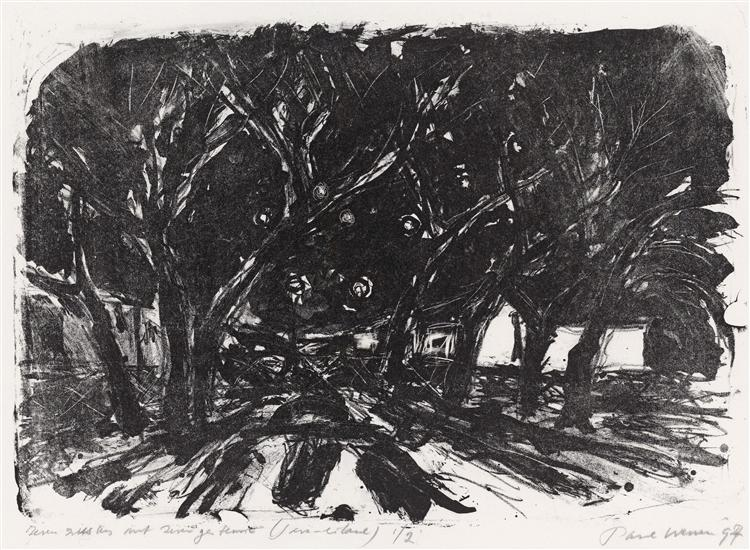 Seven sisters - a group of trees on KNSM-island in Amsterdam, 1997 - Paul Werner