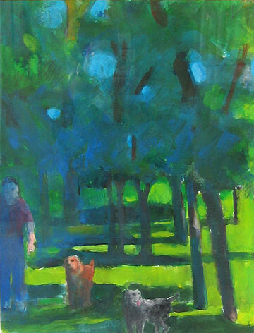 In a Park VII - Paul Wonner