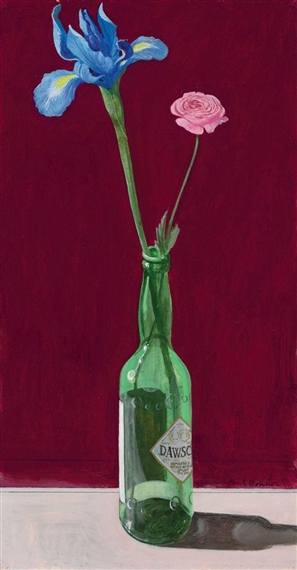 Study for Still Life with Flowers in a Whiskey Bottle, 1981 - Paul Wonner