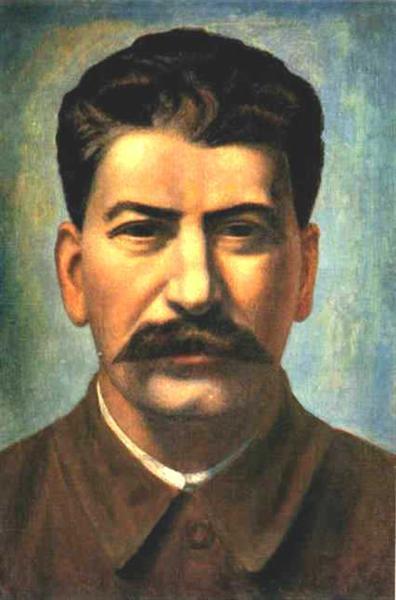 Portrait of Joseph Stalin (Iosif Vissarionovich Dzhugashvili), 1936 - Pavel Filonov