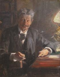 Sketch to portrait of Georg Brandes - Peder Severin Krøyer