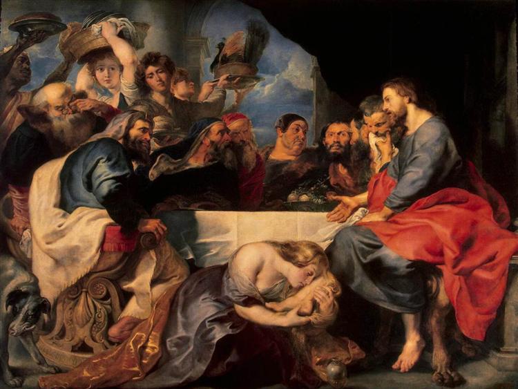 Christ at Simon the Pharisee, 1618 - 1620 - Peter Paul Rubens