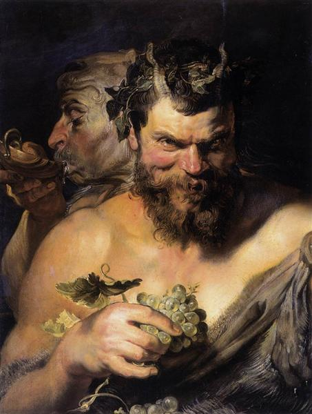 Two Satyrs, 1618 - 1619 - Peter Paul Rubens
