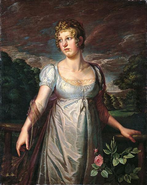 Portrait of Wilhelmina Sophia Helwig - Philipp Otto Runge