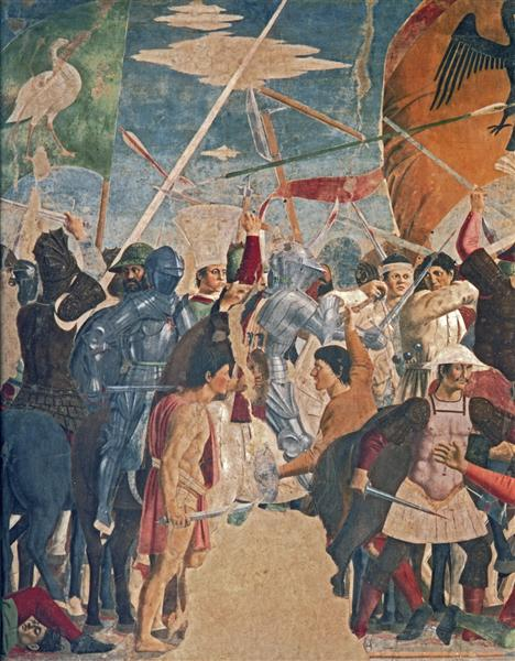 Battle between Heraclius and Chosroes (detail), 1452 - 1466 - Piero della Francesca