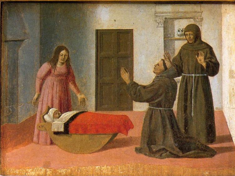 St. Anthony Resurrects a Child, c.1460 - Piero della Francesca