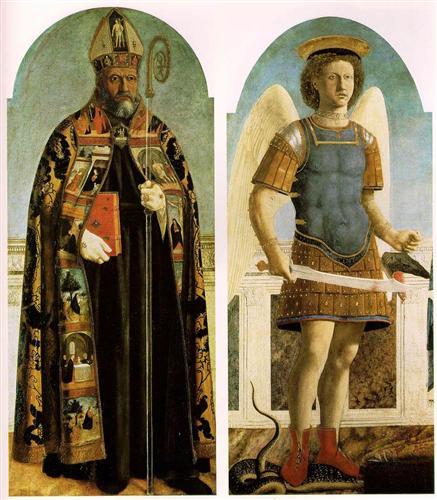 Св. Августин и Св. Михаил - Пьеро делла Франческа