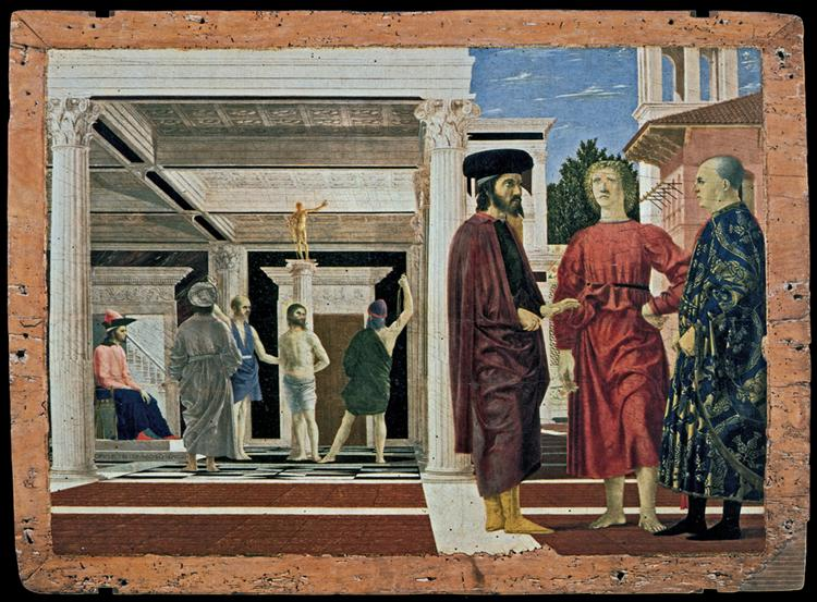 La Flagellation du Christ, c.1445 - 1450 - Piero della Francesca