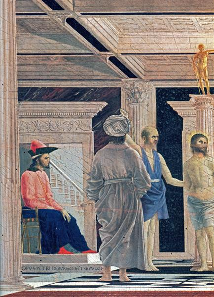 The Flagellation of Christ (detail), c.1465 - Piero della Francesca
