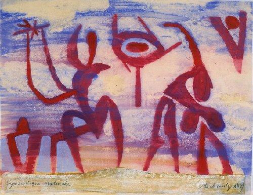 Gymnastique matinale, 1949 - Pierre Alechinsky