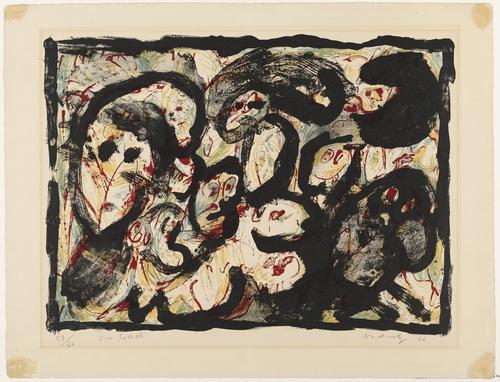 In Society (En société), 1962 - Pierre Alechinsky