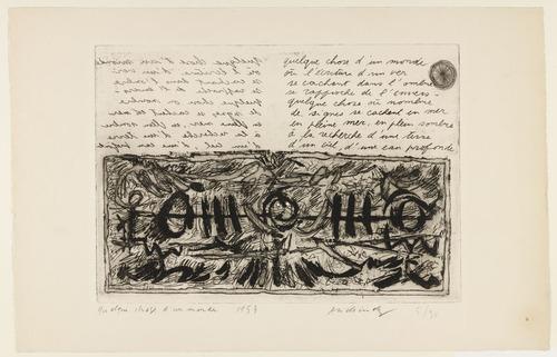 Something of the World (Quelque chose d'un monde), 1953 - Pierre Alechinsky