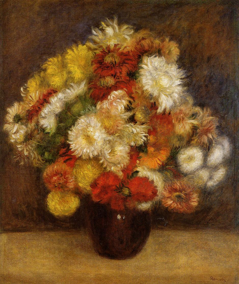 Bouquet Of Chrysanthemums 1881 Pierre Auguste Renoir