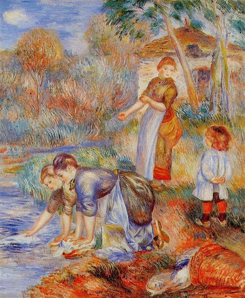 Laundresses, c.1888 - Pierre-Auguste Renoir
