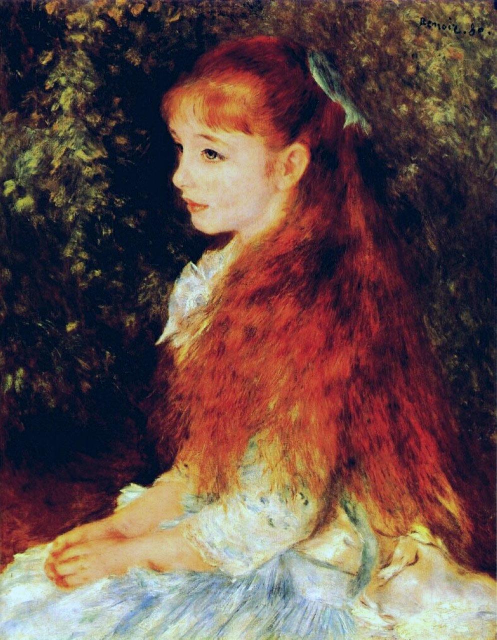 Mlle Irene Cahen d'Anvers, 1880 - Pierre-Auguste Renoir ...