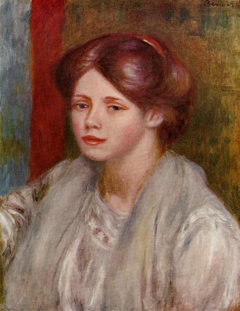 Portrait of Mademoiselle Francois - Pierre-Auguste Renoir ... |Renoir Portraits