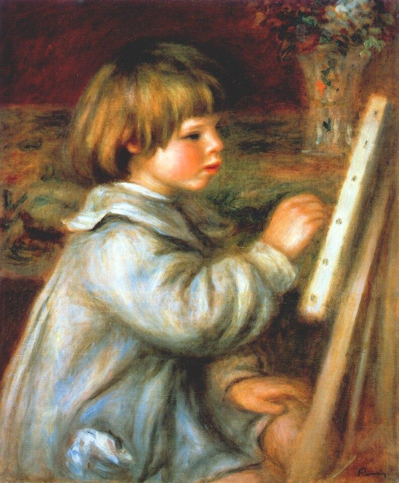 Portrait of claude renoir painting 1907 pierre auguste for Paintings by renoir