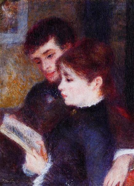 Reading Couple (Edmond Renoir and Marguerite Legrand), 1877 - Pierre-Auguste Renoir