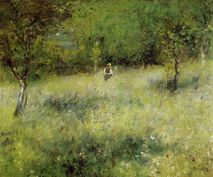 Spring at Catou, c.1872 - 1873 - Pierre-Auguste Renoir