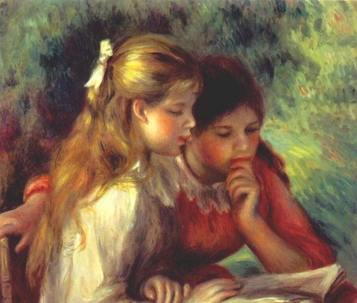 The reading, c.1890 - Pierre-Auguste Renoir