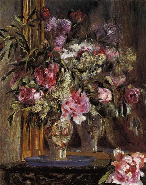 Vase Of Flowers 1871 Pierre Auguste Renoir Wikiart Org